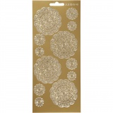 Sticker, Gold, Blumen, 10x23 cm, 1 Bl.