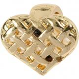 Herz, Vergoldet, Größe 13x11 mm, 1 Stck.