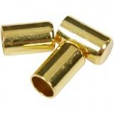 Endkappen, Vergoldet, D: 2,5 mm, 50 Stck./ 1 Pck.
