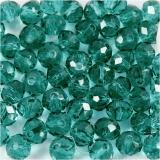 Glasschliffperlen, Grün, D: 4 mm, Lochgröße 1 mm, 45 Stck./ 1 Strg.