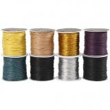 Baumwollkordel - Sortiment, Sortierte Farben, dicke 1 mm, 8x40 m/ 1 Pck.