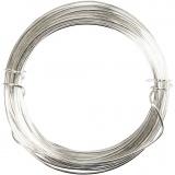 Silberdraht, Versilbert, dicke 0,6 mm, 10 m/ 1 Rolle
