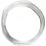 Silberdraht, Versilbert, dicke 1,2 mm, 3 m/ 1 Rolle