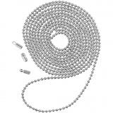 Kugelkette, Versilbert, D: 1,5 mm, 1 m