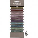 Farbige Perlenkette, Sortierte Farben, D: 1,5 mm, 10x80 cm/ 1 Pck.