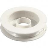 Elastischer Schmuckfaden, dicke 1 mm, 10 m/ 1 Rolle