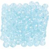 Glasschliffperlen, Meerblau, Größe 3x4 mm, Lochgröße 0,8 mm, 100 Stck./ 1 Pck.
