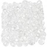 Glasschliffperlen, Kristall, Größe 3x4 mm, Lochgröße 0,8 mm, 100 Stck./ 1 Pck.