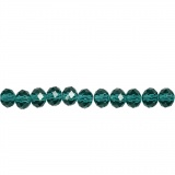 Glasschliffperlen, Smaragdgrün, Größe 5x6 mm, Lochgröße 1 mm, 100 Stck./ 1 Pck.