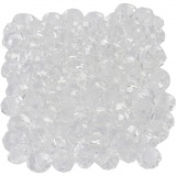 Glasschliffperlen, Kristall, Größe 5x6 mm, Lochgröße 1 mm, 100 Stck./ 1 Pck.