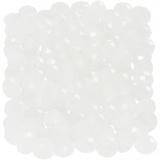 Glasschliffperlen, Kristall mattiert, Größe 3x4 mm, Lochgröße 0,8 mm, 100 Stck./ 1 Pck.