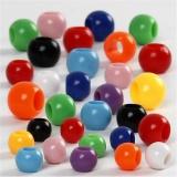 Pony-Perlen, Größe 6-10 mm, Lochgröße 3-5 mm, 150 ml/ 1 Pck., 85 g
