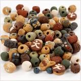 Keramikperlen, Sortierte Farben, Größe 7-18 mm, Lochgröße 2-4 mm, 300 g/ 1 Pck.