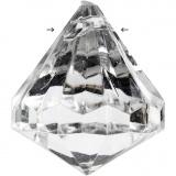 Prisma aus Acryl, Glänzend transparent, Größe 27x30 mm, Lochgröße 2,5 mm, 8 Stck./ 1 Pck.