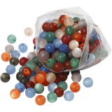 Resinperlen, Sortierte Farben, D: 10 mm, Lochgröße 2 mm, 150 g, 250 Stck./ 1 Pck.