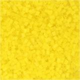 Farbige Glasröhren-Perlen, Transparent Gelb, 2-cut, D: 1,7 mm, Größe 15/0 , Lochgröße 0,5 mm, 25 g/ 1 Pck.