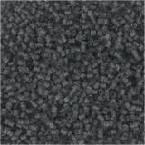 Farbige Glasröhren-Perlen, Transparent Grau, 2-cut, D: 1,7 mm, Größe 15/0 , Lochgröße 0,5 mm, 25 g/ 1 Pck.