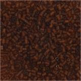 Farbige Glasröhren-Perlen, Braun, 2-cut, D: 1,7 mm, Größe 15/0 , Lochgröße 0,5 mm, 25 g/ 1 Pck.