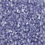 Farbige Glasröhren-Perlen, Transparent Lila, 2-cut, D: 1,7 mm, Größe 15/0 , Lochgröße 0,5 mm, 500 g/ 1 Btl.