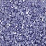 Farbige Glasröhren-Perlen, Transparent Lila, 2-cut, D: 1,7 mm, Größe 15/0 , Lochgröße 0,5 mm, 25 g/ 1 Pck.
