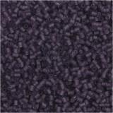 Farbige Glasröhren-Perlen, Frosted Lila, 2-cut, D: 1,7 mm, Größe 15/0 , Lochgröße 0,5 mm, 500 g/ 1 Btl.