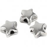 Abstands-Perle, Versilbert, Größe 5,5x5,5 mm, Lochgröße 1 mm, 3 Stck./ 1 Pck.