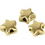 Abstands-Perle, Vergoldet, Größe 5,5x5,5 mm, Lochgröße 1 mm, 3 Stck./ 1 Pck.