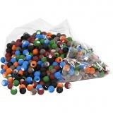 Acrylperlen - Sortiment, Sortierte Farben, Größe 8x10 mm, Lochgröße 5 mm, 300 g/ 1 Pck.