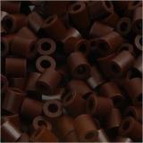 Bügelperlen, Braun (32229), Größe 5x5 mm, Lochgröße 2,5 mm, medium, 1100 Stck./ 1 Pck.