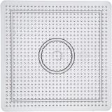 Steckbrett, Transparent, Größe 14,5x14,5 cm, 1 Stck.