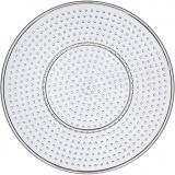 Steckbrett, Transparent, große runde, D: 15 cm, 10 Stck./ 1 Pck.