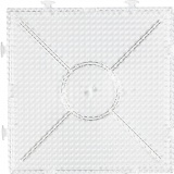 Steckbrett, Transparent, großes Kombi-Quadrat, Größe 15x15 cm, 1 Stck.