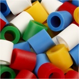 Bügelperlen, Standard-Farben, Größe 10x10 mm, Lochgröße 5,5 mm, JUMBO, 2450 sort./ 1 Pck.