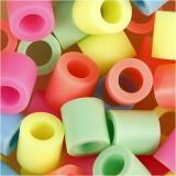 Bügelperlen, Pastellfarben, Größe 10x10 mm, Lochgröße 5,5 mm, JUMBO, 1000 sort./ 1 Pck.