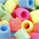 Bügelperlen, Pastellfarben, Größe 10x10 mm, Lochgröße 5,5 mm, JUMBO, 2450 sort./ 1 Eimer