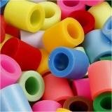 Bügelperlen, Zusätzliche Farben, Größe 10x10 mm, Lochgröße 5,5 mm, JUMBO, 2450 sort./ 1 Eimer