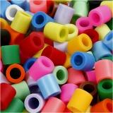 Bügelperlen, Zusätzliche Farben, Größe 10x10 mm, Lochgröße 5,5 mm, JUMBO, 550 sort./ 1 Pck.